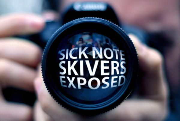 Sick Note Skivers Exposed Holey & Moley ©Holey&Moley 2015
