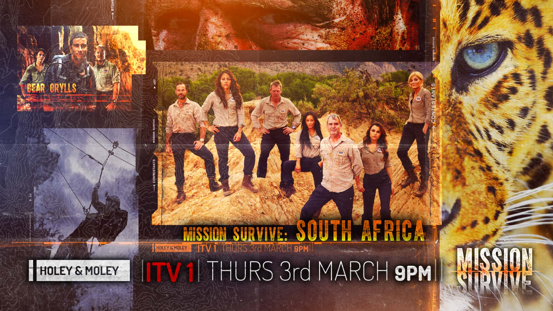 Bear Grylls Mission Survive South Africa ©Holey&Moley 2016